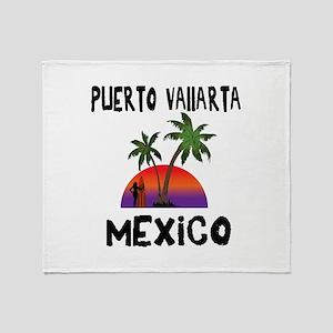Puerto Vallarta Mexico Throw Blanket