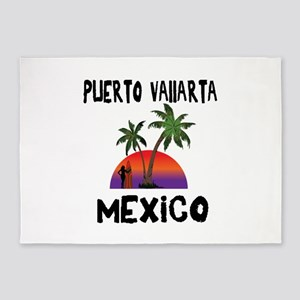 Puerto Vallarta Mexico 5'x7'Area Rug