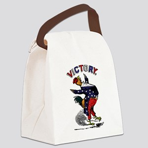 Victory Rooster Canvas Lunch Bag