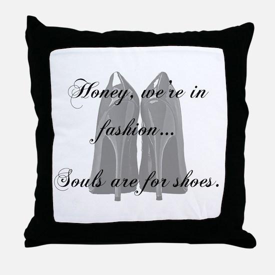 Funny High heels Throw Pillow