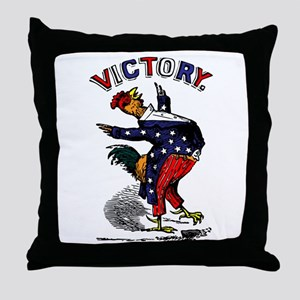 Victory Rooster Throw Pillow