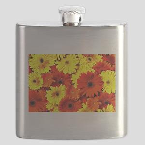 Yellow and Orange Gerbera Flask