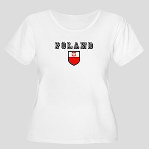 Poland Soccer Women's Plus Size Scoop Neck T-Shirt