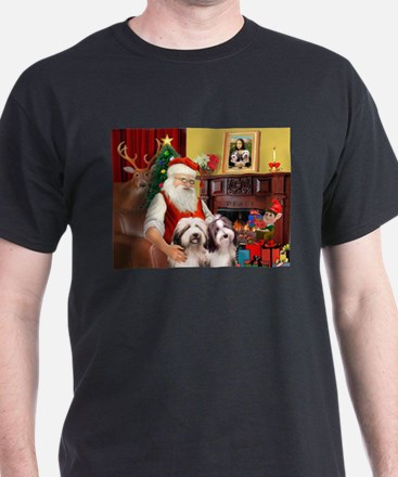 Santa's Beardie pair T-Shirt