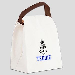 I can't keep calm Im TEDDIE Canvas Lunch Bag