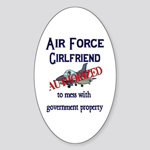 Air Force Girlfriend Authorized Oval Sticker