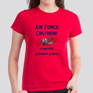 Air Force Girlfriend Authorized Women's Dark T-Shi