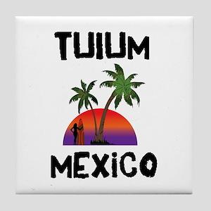 Tulum Mexico Tile Coaster