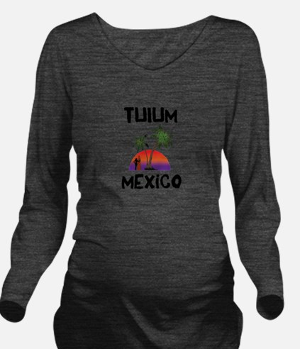 Tulum Mexico Long Sleeve Maternity T-Shirt