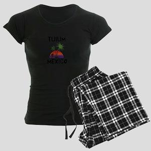 Tulum Mexico Women's Dark Pajamas