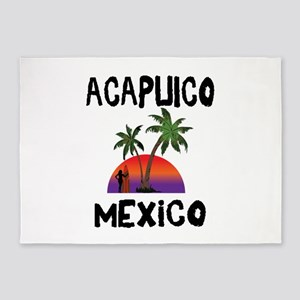 Acapulco Mexico 5'x7'Area Rug