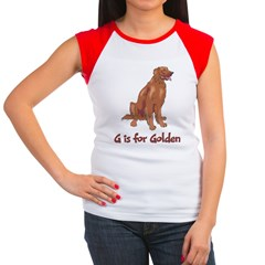 G is for Golden Retriever Women's Cap Sleeve T-Shi
