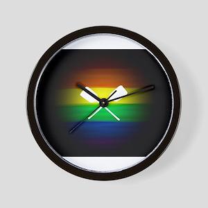 gay rainbow paddle ore art Wall Clock