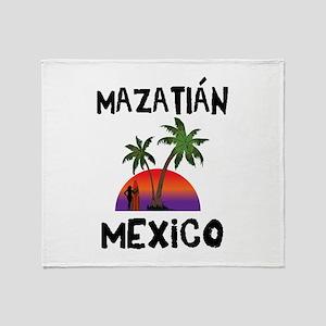 Mazatlan Mexico Throw Blanket