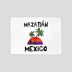 Mazatlan Mexico 5'x7'Area Rug