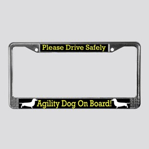 Dachshund Agility Dog License Plate Frame