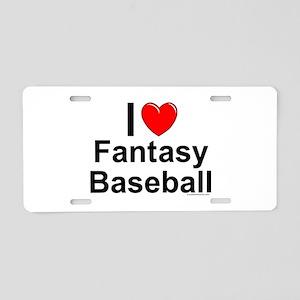 Fantasy Baseball Aluminum License Plate