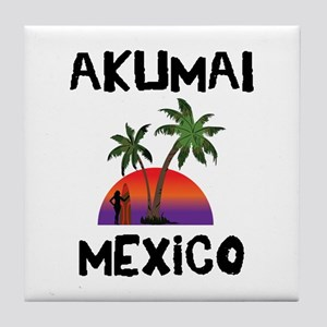 Akumal Mexico Tile Coaster