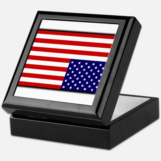 DISTRESSED AMERICAN FLAG Keepsake Box