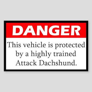 Attack Dachshund Sticker