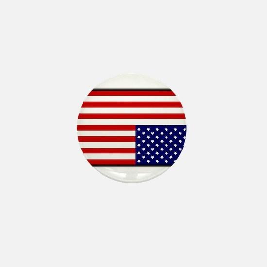 DISTRESSED AMERICAN FLAG Mini Button