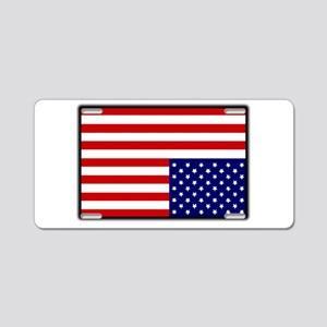 DISTRESSED AMERICAN FLAG Aluminum License Plate