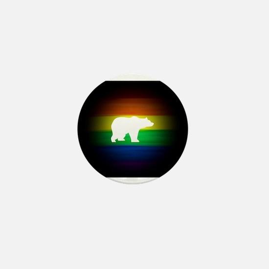 rainbow gay bear art Mini Button