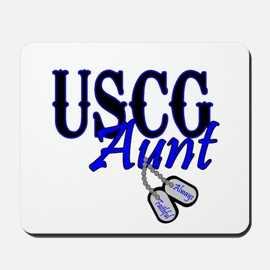 USCG Dog Tag Aunt Mousepad