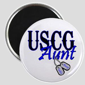 USCG Dog Tag Aunt Magnet