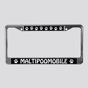 Maltipoomobile License Plate Frame