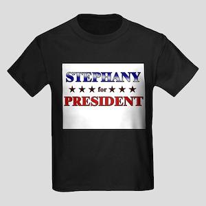 STEPHANY for president Kids Dark T-Shirt