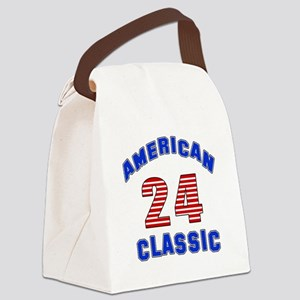 American Classic 24 Birthday Canvas Lunch Bag