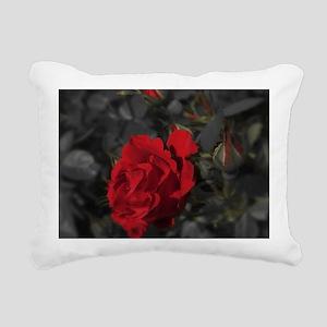 red rose in dark mournin Rectangular Canvas Pillow