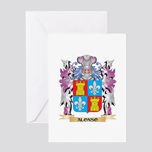 Alonso Coat of Arms (Family Crest) Greeting Cards