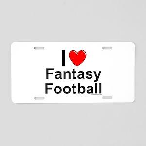 Fantasy Football Aluminum License Plate