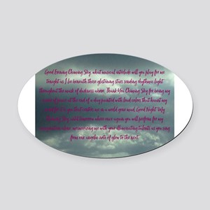 My Chiming Sky Oval Car Magnet