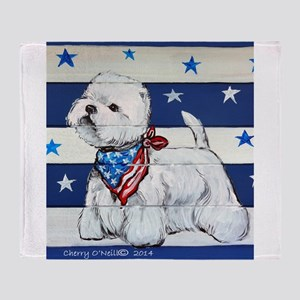America Westie Throw Blanket