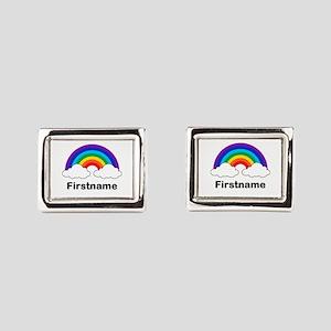 Rainbow (p) Rectangular Cufflinks