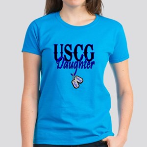 USCG Dog Tag Daughter Women's Dark T-Shirt