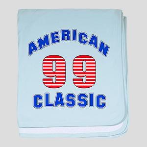 American Classic 99 Birthday baby blanket