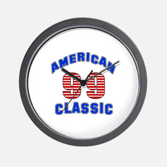 American Classic 99 Birthday Wall Clock