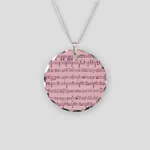 Sheet Music Necklace Circle Charm