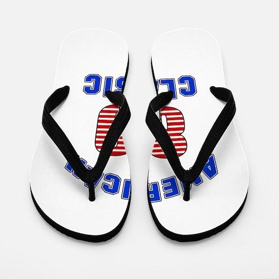 American Classic 80 Birthday Flip Flops