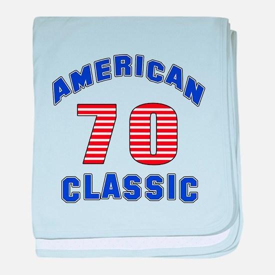 American Classic 70 Birthday baby blanket