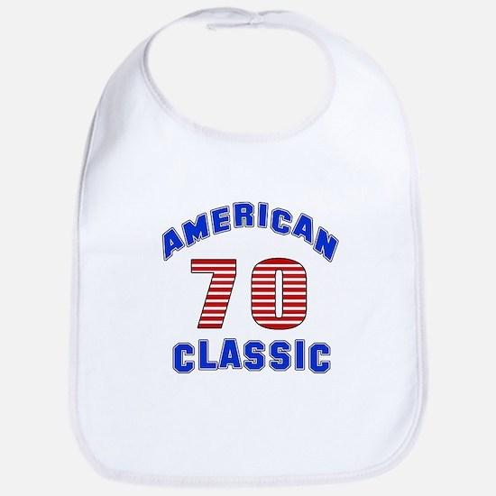 American Classic 70 Birthday Bib