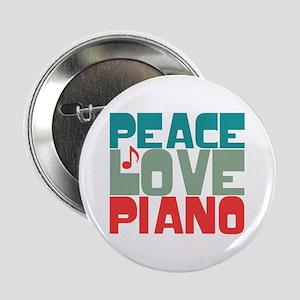 """Peace Love Piano 2.25"""" Button"""