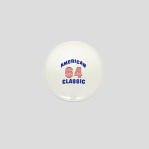 American Classic 64 Birthday Mini Button