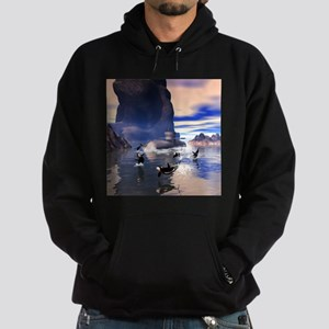 Submarine with orcas Hoodie