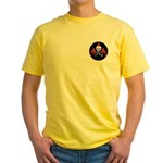 Skull with Devils Yellow T-Shirt