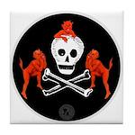 Skull with Devils Tile Coaster